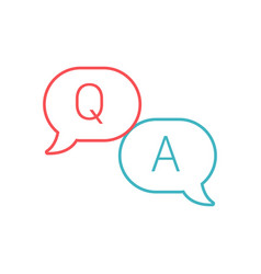Question and answer line and glyph icon e vector