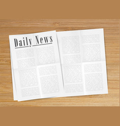realistic newspaper vector image