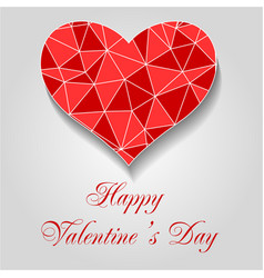 red origami heart happy valentines day eps10 ve vector image