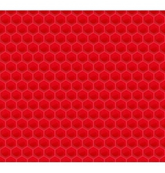 Red Pattern Hexagon Mosaic vector image