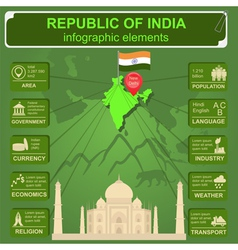 Republic of India infographics statistical data vector image
