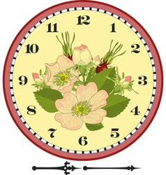 Retro Flower Clock Dial vector image