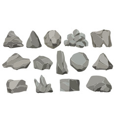 rock stones graphite stone coal and rocks pile vector image