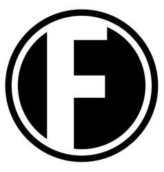 round f logo vector image