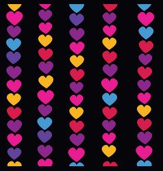 Seamless pattern with hanging heart vector