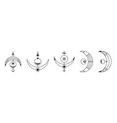 Set four abstract geometric symbols sacred vector
