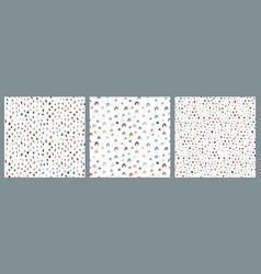 set hand drawn seamless patterns endless vector image