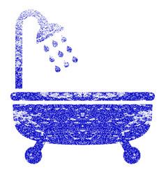 Shower bath grunge textured icon vector