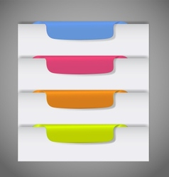 Stickers on edge page vector