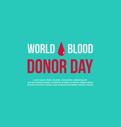 Style background of blood donor day vector