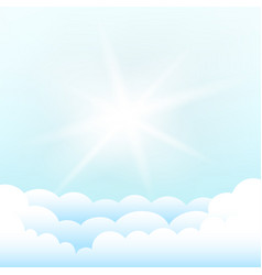 sun above the clouds blue sky vector image