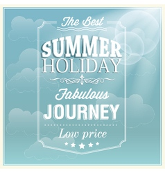 The best summer holiday typography card design vector