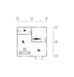 Top view black and white outline drawing home vector
