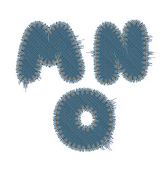 torn denim letters vector image