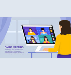 video conference 25 vector image