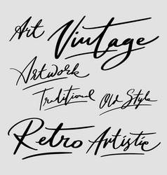 vintage and retro typography vector image