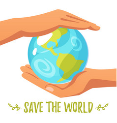 world environment day greeting card vector image