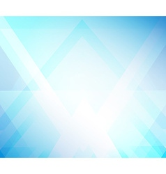 Background blue triangle vector image vector image