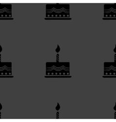 cake web icon flat design Seamless gray pattern vector image