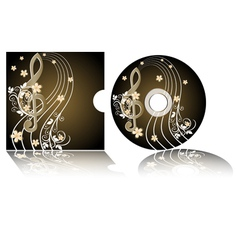CD label vector image vector image