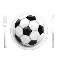 football and food icons vector image