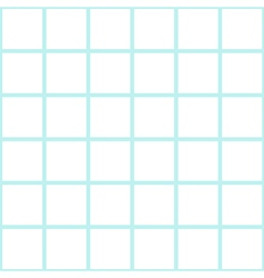 Mint White Grid Chess Board Background vector image