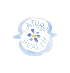 Nature Health Beauty Promo Sign vector image vector image