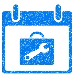 Toolbox Calendar Day Grainy Texture Icon vector image vector image