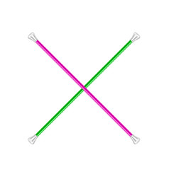 Two crossed twirling batons vector