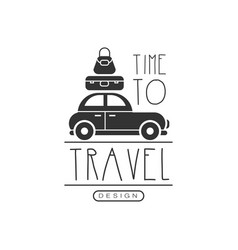 typographic design logo for tourist agency vector image