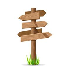 wooden arrow empty signboard vector image vector image