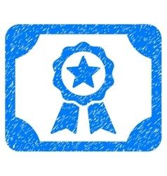 Certificate grainy texture icon vector
