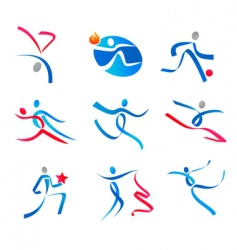 dancing people and sportsmen vector image vector image