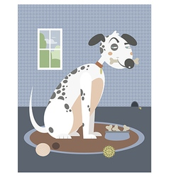 Dog with a bone in his mouth vector image vector image