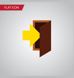 isolated entrance flat icon entry element vector image