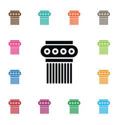 isolated pedestal icon sculpture element vector image vector image