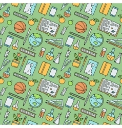 School supplies seamless pattern vector image vector image
