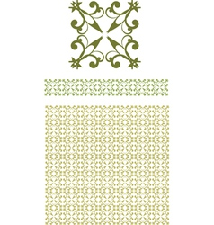 seamless floral border vector image vector image