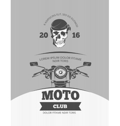 Vintage motorcycle world bikers festival race vector image