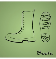 Army boots vector image vector image