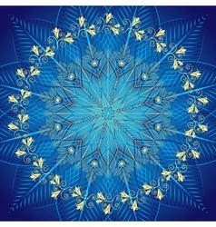 Blue vintage frame vector image vector image