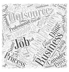 Business process outsourcing word cloud concept vector