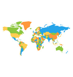 colorful map of world vector image vector image