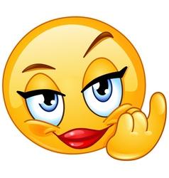 come female emoticon vector image vector image