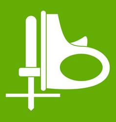 cordless reciprocating saw icon green vector image vector image