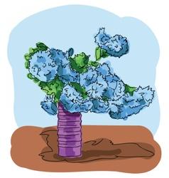 Digital painted bouquet vector image