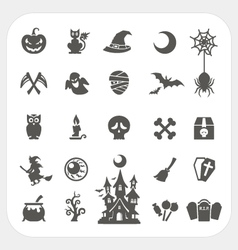 Halloween party icons set vector image vector image