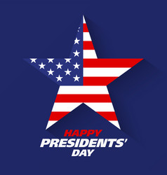 happy presidents day greeting card design vector image