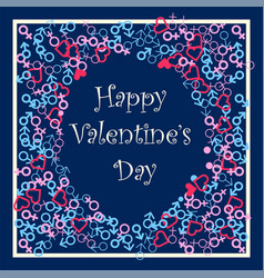 Happy valentines day festive frame vector