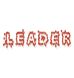 Human icon leader vector image